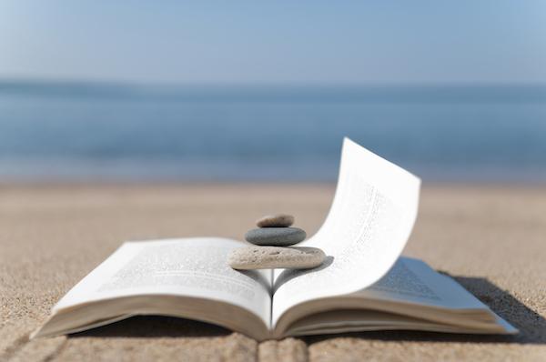 Reading on the beach