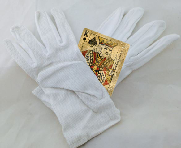 pall bearers gloves and King of Spades