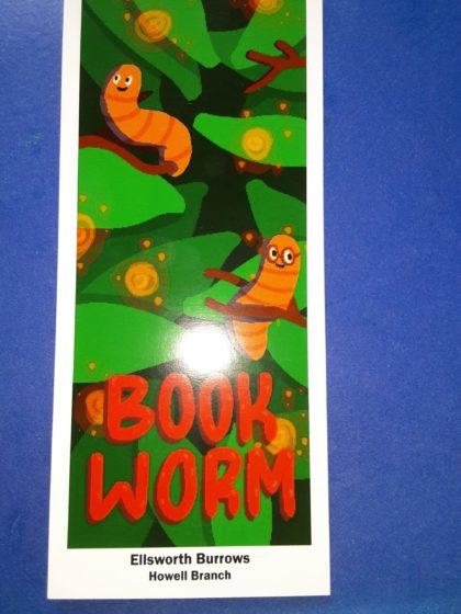 worm bookmark