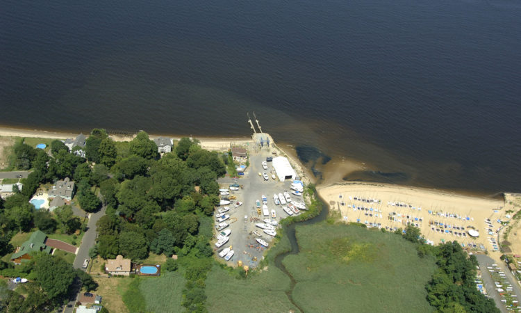 Wagner's creek arial view- connecting to Sandy Hook Bay